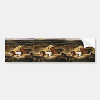 Eugene Delacroix- Wounded Brigand Quenches Thirst Bumper Stickers