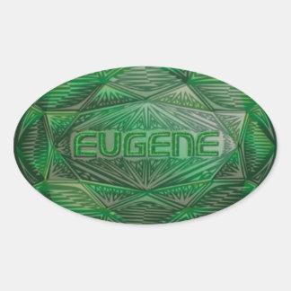 Eugene emerald oval sticker