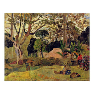 Eugene H Paul Gauguin - The big tree Poster