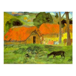 Eugène Henri Paul Gauguin - Le Trois Huttes Postcard