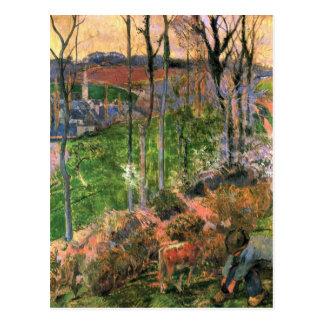 Eugène Henri Paul Gauguin - Small Breton Wooden Sh Postcard