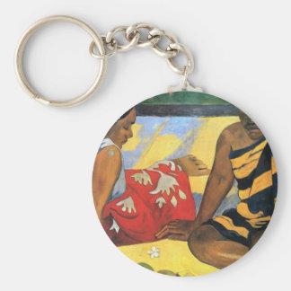 Eugène Henri Paul Gauguin - Two Women From Tahiti Keychain