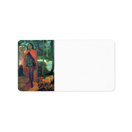 Eugène Henri Paul Gauguin - Wizard of Hiva-Oa Label