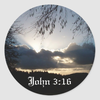 Eugene, OR...John 3:16 Classic Round Sticker