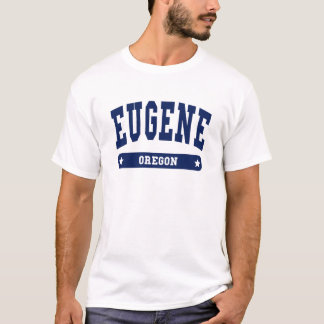 Eugene Oregon College Style tee shirts