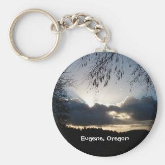 Eugene, Oregon Sunset Basic Round Button Keychain