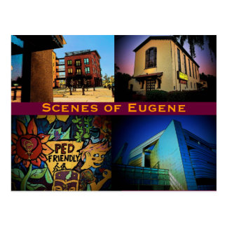 Eugene Scenes Postcard