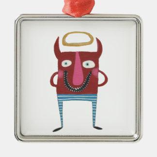 Eugene the Little Devil Metal Ornament