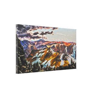 Eugene VON GUÉRard - Mount Townsend (Modified) Canvas Print