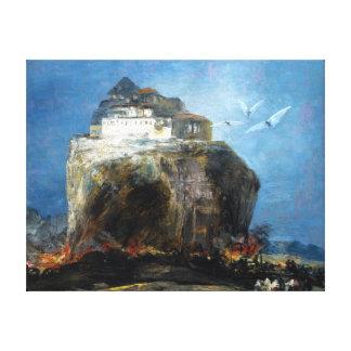 Eugenio Lucas Velázquez City on a Rock Canvas Print