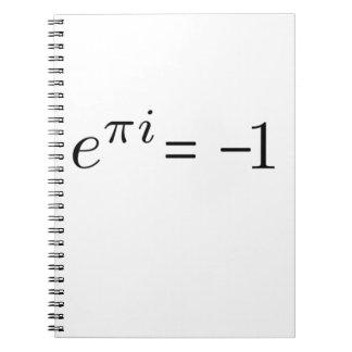Euler formula! spiral notebook