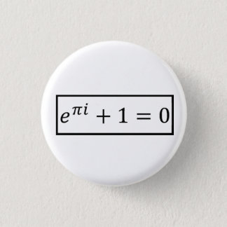 Euler Formulates 1 Inch Round Button