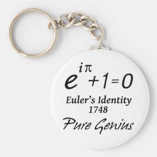 Euler's Identity Basic Round Button Keychain