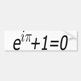 Euler's Identity Bumper Sticker