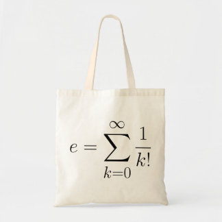 Euler's number series tote bag