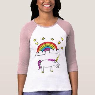 Eunice the Unicorn - Ladies 3/4 Sleeve T-Shirt