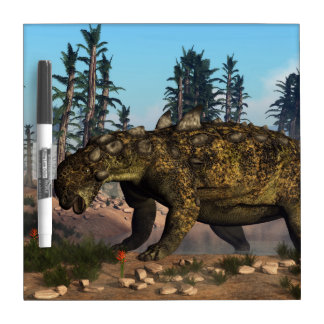 Euoplocephalus dinosaur - 3D render Dry Erase Board