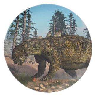Euoplocephalus dinosaur - 3D render Party Plates