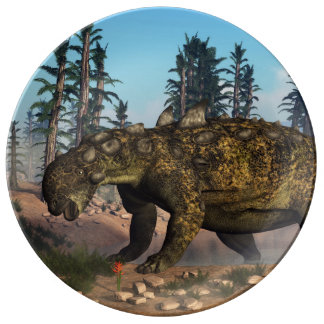 Euoplocephalus dinosaur - 3D render Plate