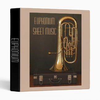 Euphonium brass Sheet Music student folder Vinyl Binders