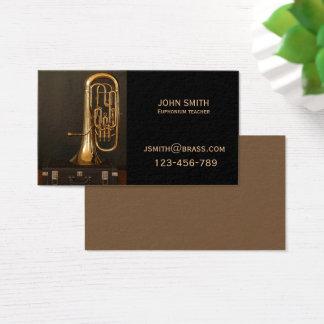 Euphonium brass Teacher or tutor Business Card
