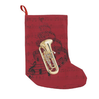 Euphonium music stocking small christmas stocking