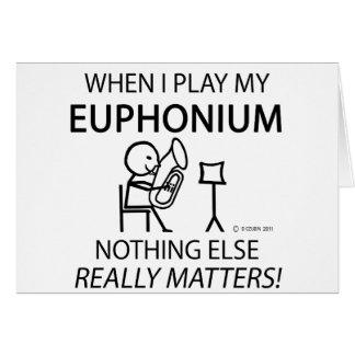 Euphonium Nothing Else Matters Greeting Card