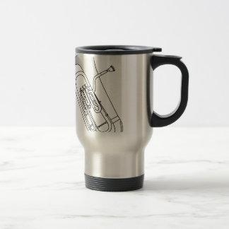 Euphonium Redwork Travel Mug