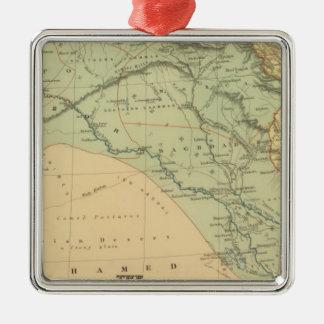 Euphrates Valley, Syria Silver-Colored Square Ornament