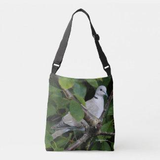 Eurasian Collared Dove on the Cherry Tree Crossbody Bag