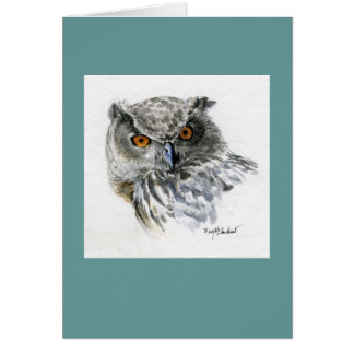 """Eurasian Eagle Owl"" Card"