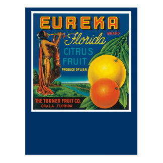 Eureka Brand Florida Citrus Fruit Postcard