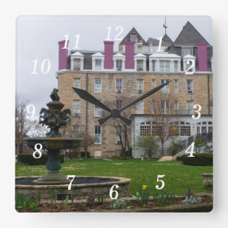 Eureka Crescent Square Wall Clock