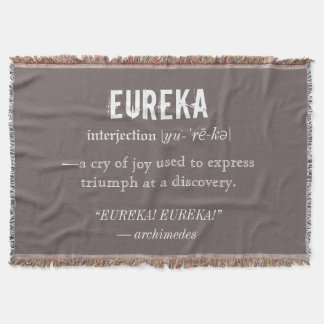 Eureka Definition Archimedes Principle Science Throw Blanket