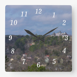 Eureka Hill Side Square Wall Clock