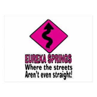 Eureka Springs streets Postcard
