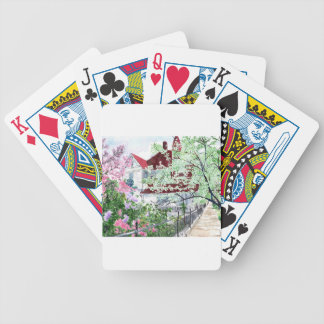 Eureka Springs Victorian House Bicycle Playing Cards