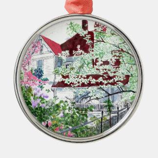 Eureka Springs Victorian House Metal Ornament