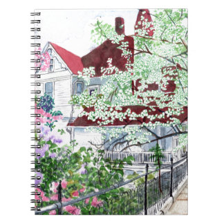 Eureka Springs Victorian House Spiral Notebook