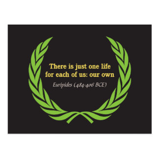 Euripides Just One Life Postcard