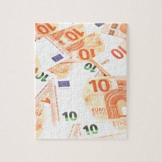 Euro background puzzles