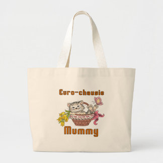 Euro-chausie Cat Mom Large Tote Bag