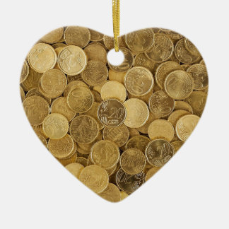 Euro Coins Currency Money Yellow Market Europe Ceramic Ornament