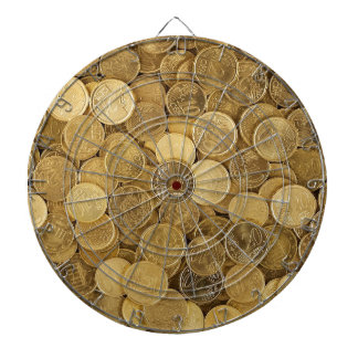 Euro Coins Currency Money Yellow Market Europe Dartboard