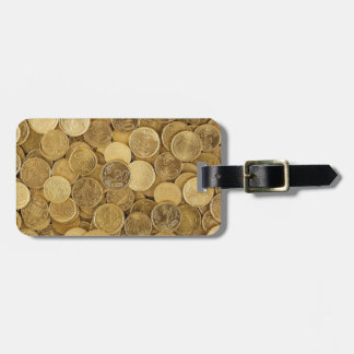 Euro Coins Currency Money Yellow Market Europe Luggage Tag