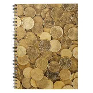 Euro Coins Currency Money Yellow Market Europe Notebook