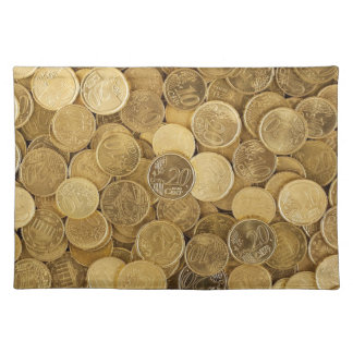 Euro Coins Currency Money Yellow Market Europe Placemat