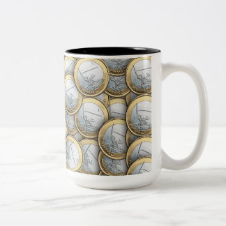 Euro Coins Two-Tone Coffee Mug