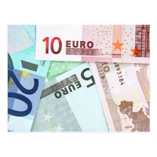 Euro Money Postcard