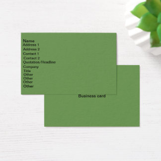 Euro size business card
